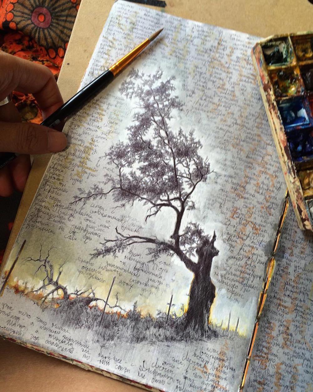 dina_brodksy_diary_sketchbook_